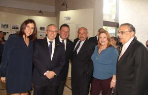 Gila Hubschmann de Falcón, Elías Farache, Raúl Cohén, Elides Rojas, Macky Arenas y Manuel Felipe Sierra